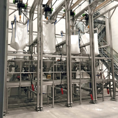 Big Bag Entleerung Entleerstation Schuettguttechnik Behaelter Sack Auslauf Anlagenbau Befuellstation Foerderung Big Bag
