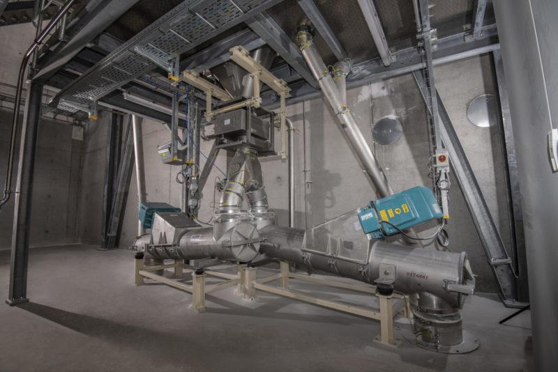 Dosieranlage Mischanlage Abfuellanlage Industrie Abscheider Dosierschleuse Verteilervibrationsrinnen Kontrollsieb Endeco